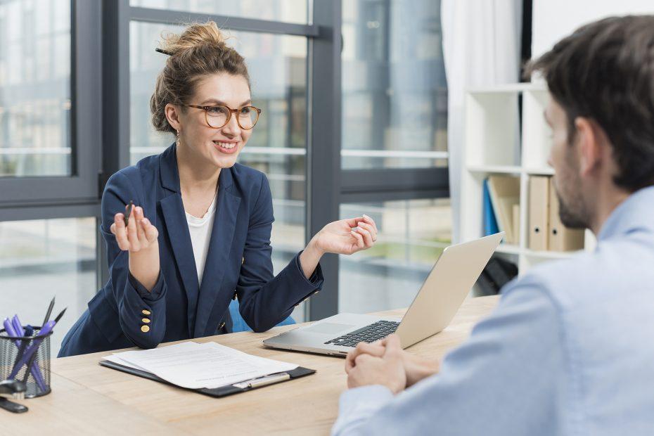 Woman Interviewing Man Peak HR Top Interview Tips 2048x1367
