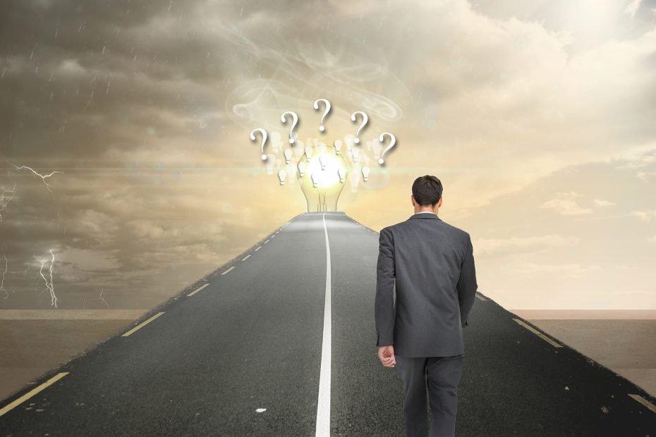 Man Choosing Path